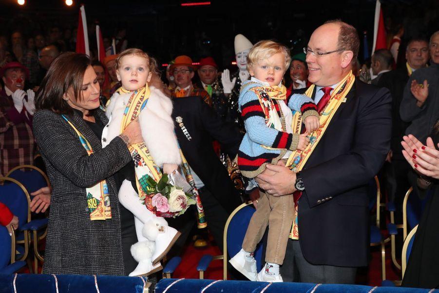 Gabriella Et Jacques De Monaco Au Festival Du Cirque De Monte Carlo 22