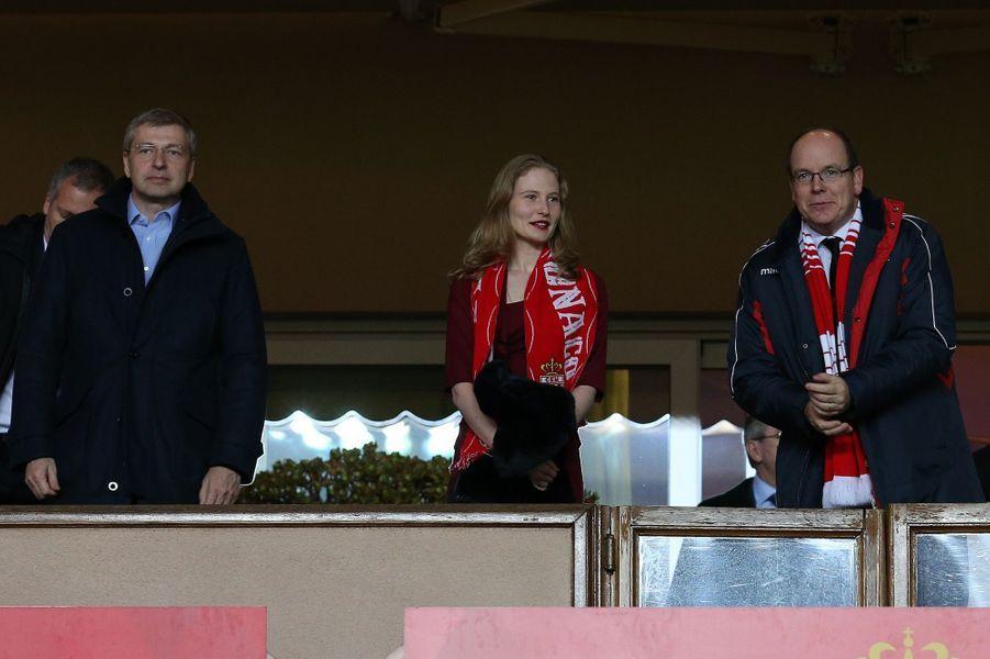 Avec le patron de l'AS Monaco, Dmitri Rybolovlev