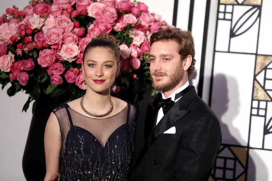 Beatrice Borromeo et Pierre Casiraghi au Bal de la Rose, le 18 mars 2017.