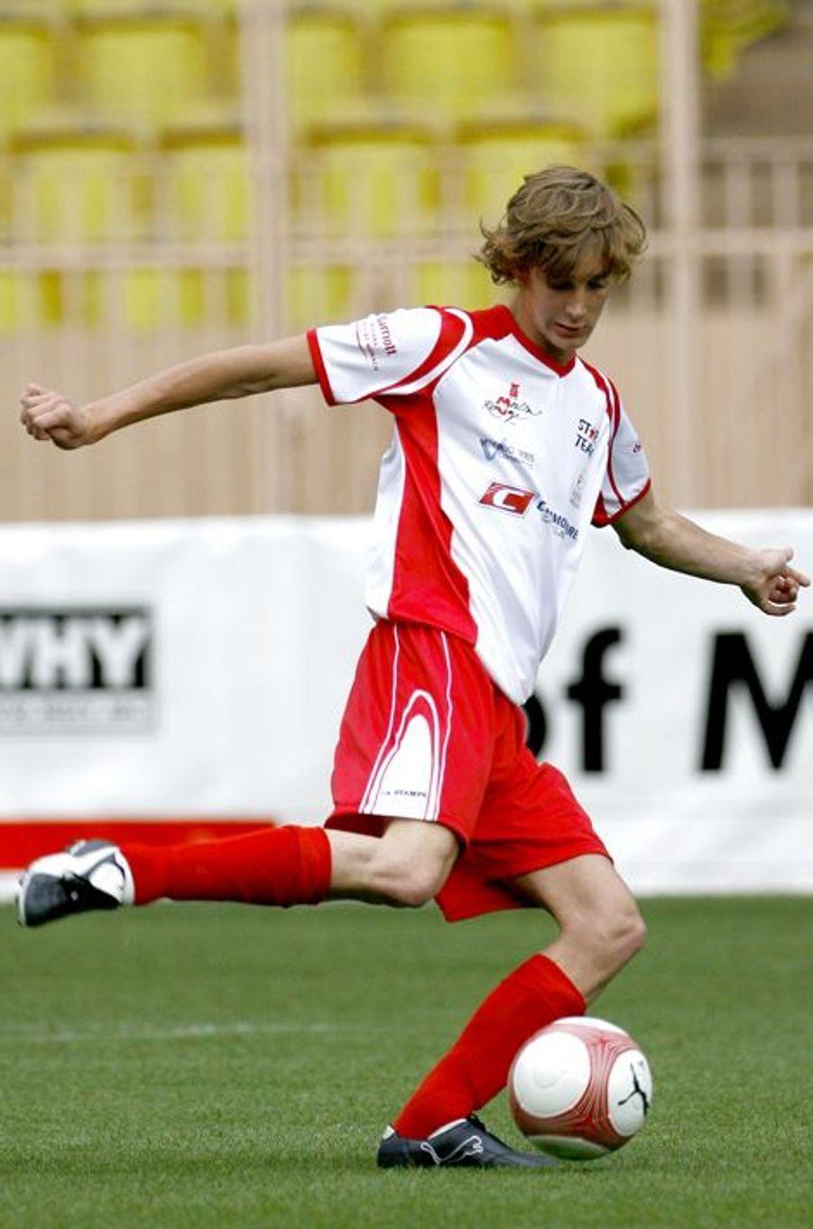La grande passion de Pierre : le foot.