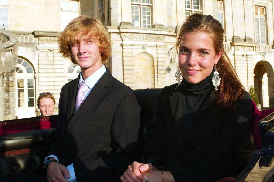 Pierre et Charlotte à Fontainebleau, 2003