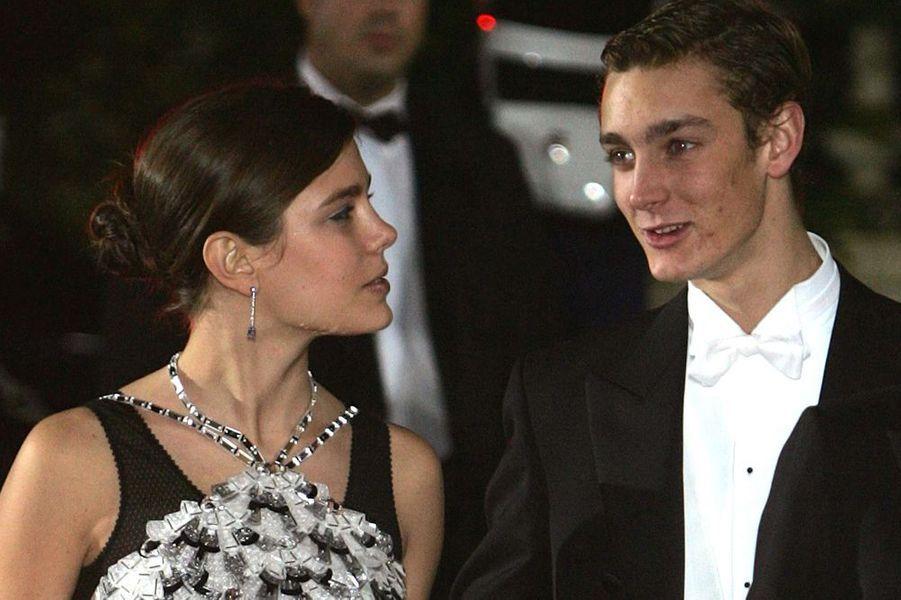Pierre et sa soeur Charlotte au bal de la Rose, 2005