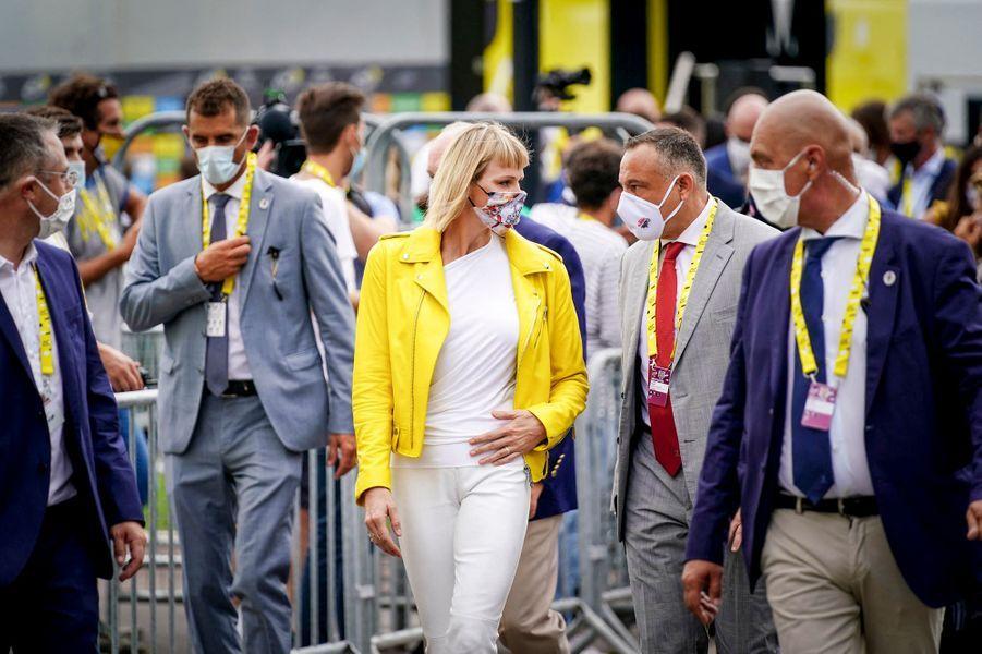 La princesse Charlène de Monaco à Nice, le 29 août 2020