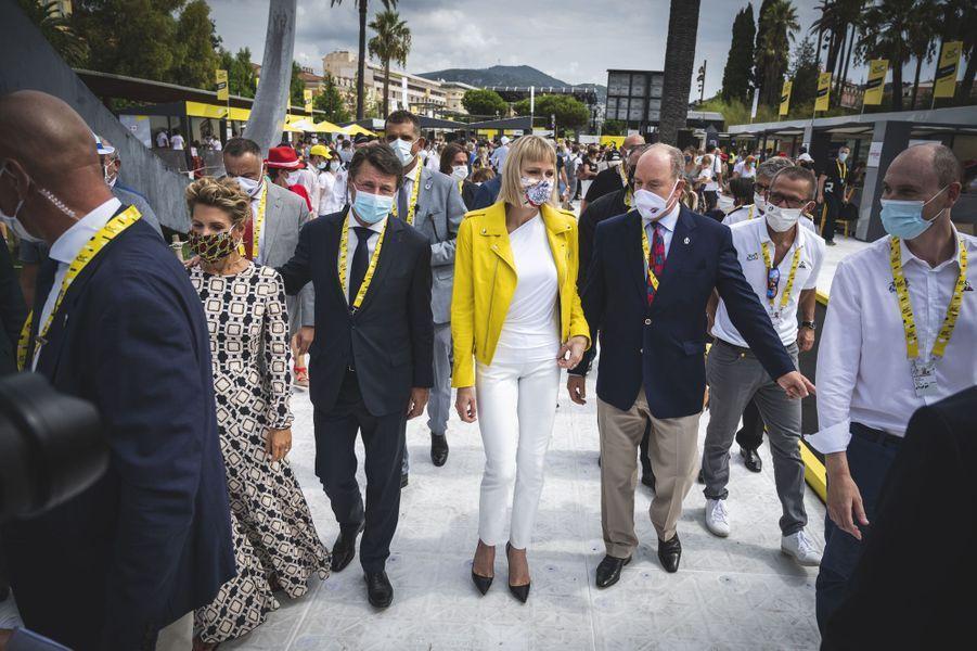 La princesse Charlène et le prince Albert II de Monaco à Nice, le 29 août 2020