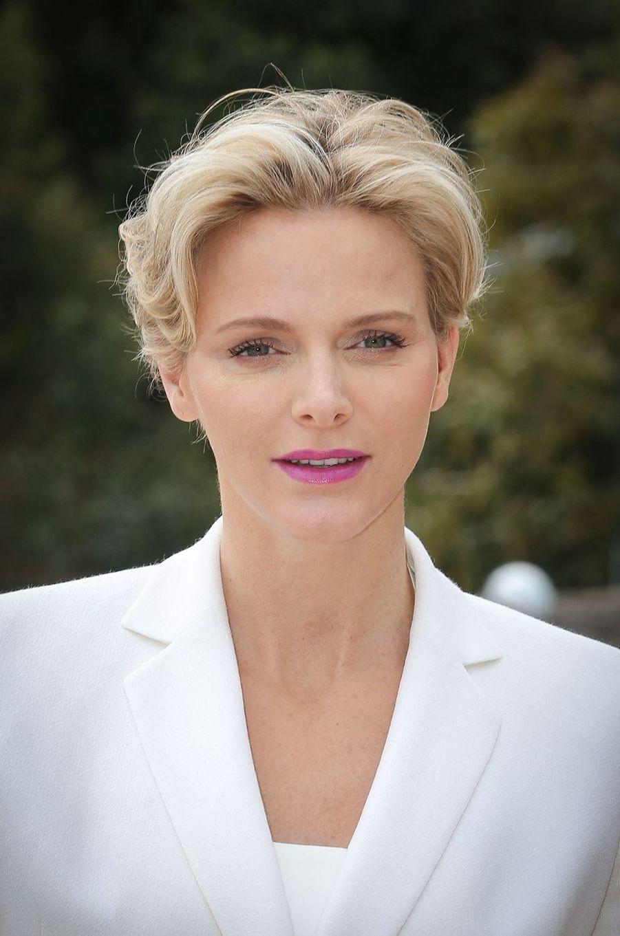 La princesse Charlène de Monaco, le 24 avril 2014