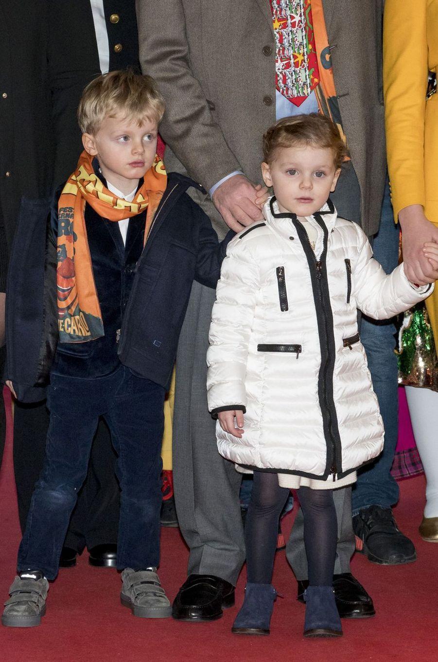 La princesse Gabriella et le prince Jacques de Monaco à Monaco, le 20 janvier 2019