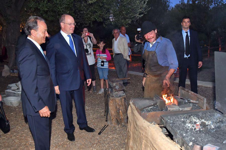 Le prince Albert II de Monaco à Roquebrune Cap-Martin, le 7 septembre 2015