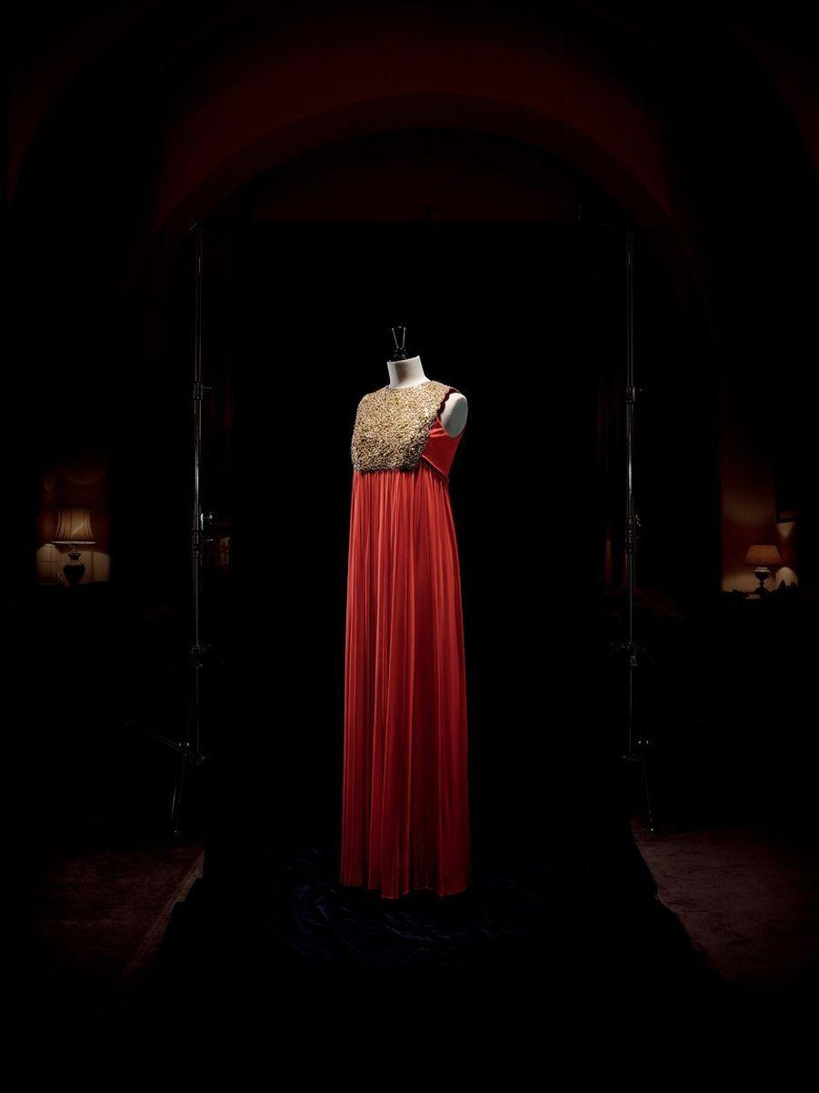 Robe du soir Christian Dior par Marc Bohan haute couture automne-hiver 1968 de la princesse Grace de Monaco (collection Palais princier de Monaco)