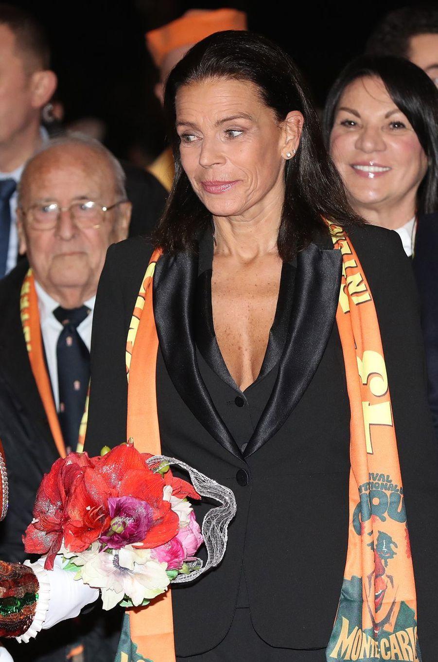 La princesse Stéphanie de Monaco à Monaco, le 17 janvier 2019
