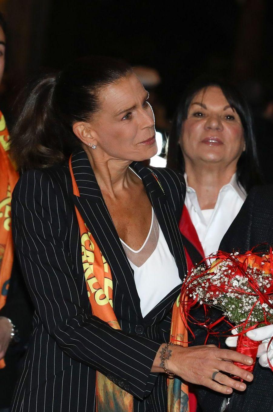 La princesse Stéphanie de Monaco à Monaco, le 18 janvier 2019