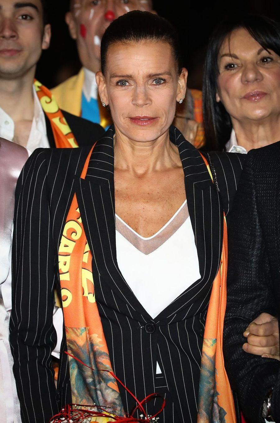 La princesse Stéphanie de Monaco, le 18 janvier 2019
