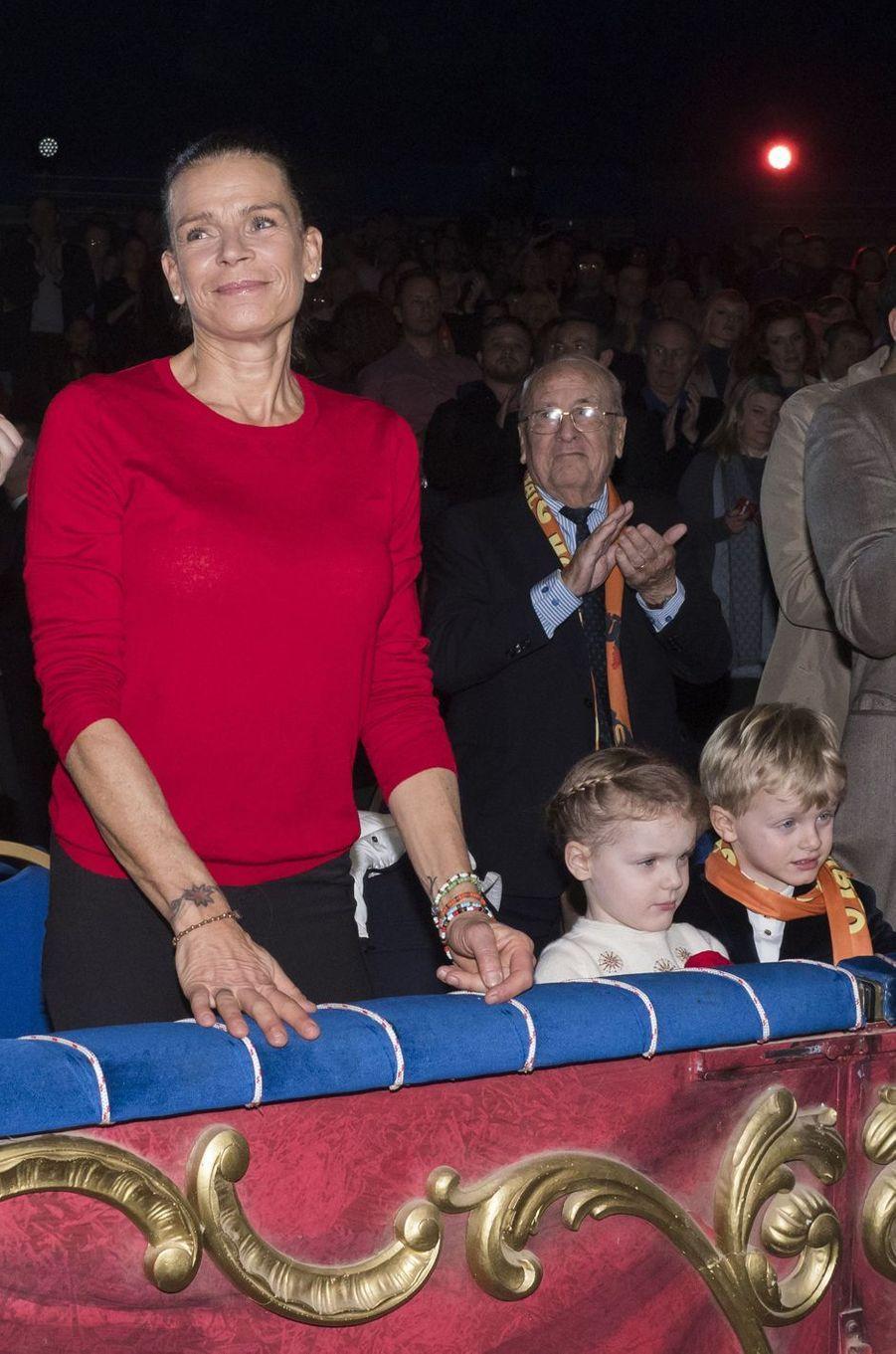 La princesse Stéphanie de Monaco à Monaco, le 20 janvier 2019
