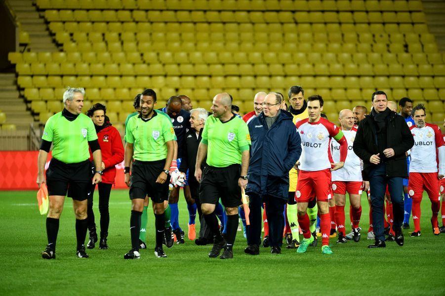 Match au profit de Fight Aids Monaco au stade Louis-II le 20 janvier 2020