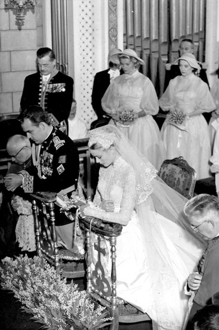 Mariage du prince Rainier III de Monaco avec Grace Kelly, le 14 avril 1956