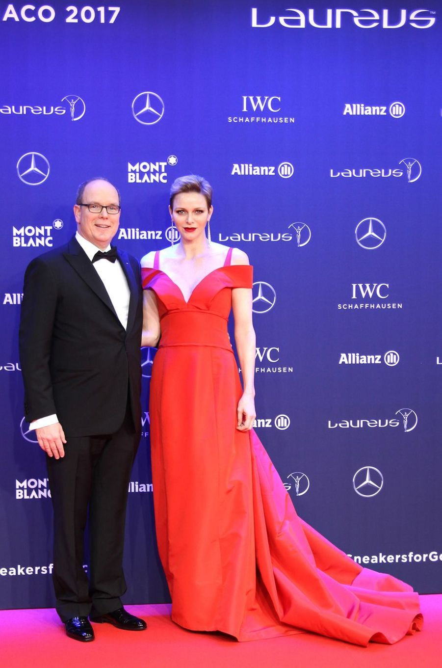 La princesse Charlène de Monaco à la cérémonie des Laureus World Sports Awards à Monaco, le 14 février 2017
