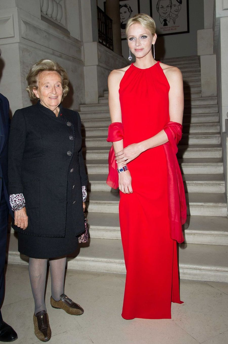 La princesse Charlène de Monaco au lunch de l'expositionVan Cleef & Arpels au musée des Arts décoratifs à Paris, le 18 septembre 2012