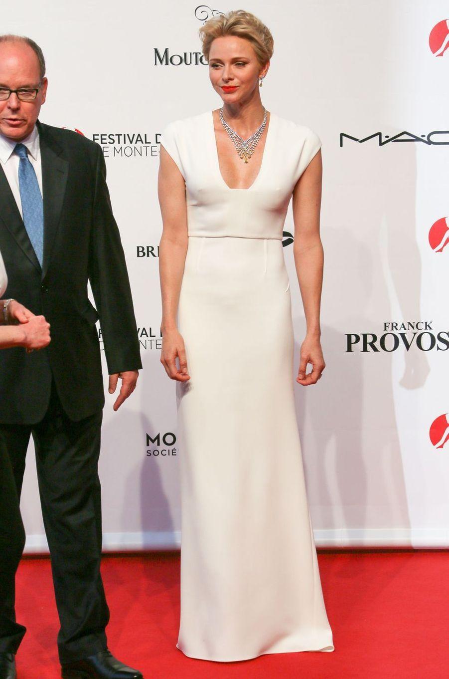 La princesse Charlène de Monaco au Festival de télévision de Monte-Carlo, le 12 juin 2016