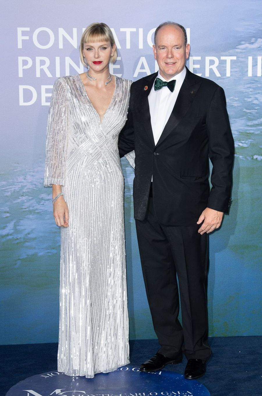 La princesse Charlène avec le prince Albert II de Monaco, le 24 septembre 2020