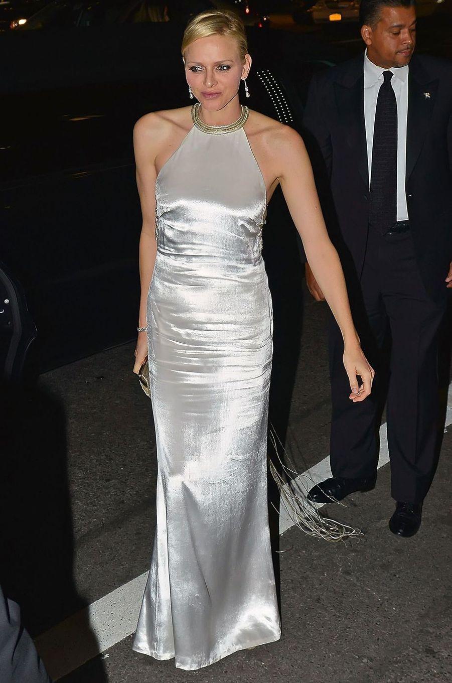 La princesse Charlène de Monaco, le 22 octobre 2012