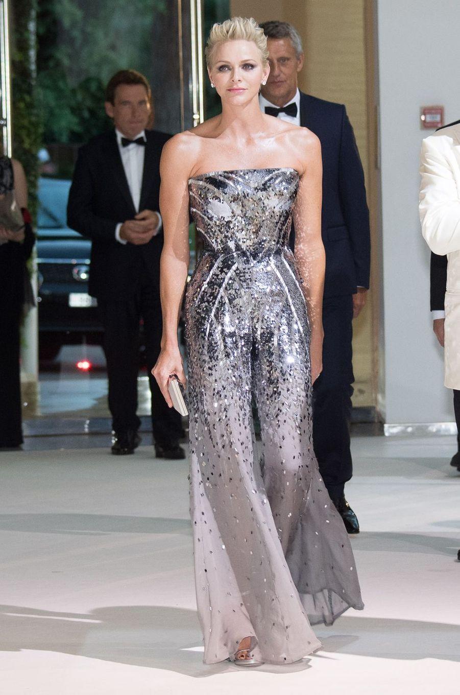 La princesse Charlène de Monaco, le 28 juillet 2017