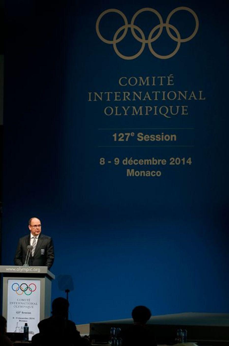 Le prince Albert II de Monaco à Monaco, le 7 décembre 2014
