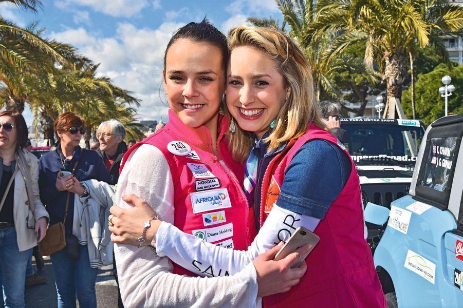 Sur la ligne de départ, à Nice, le 17 mars, la fille de Stéphanie de Monaco, Pauline Ducruet, 23 ans, et sa cousine Jazmin, 26 ans.