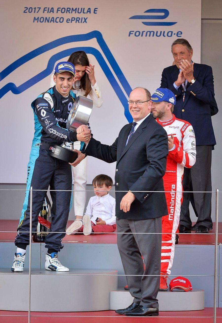Raphaël Et Charlotte Casiraghi À La Remise Des Trophées De L'ePrix De Monaco 1