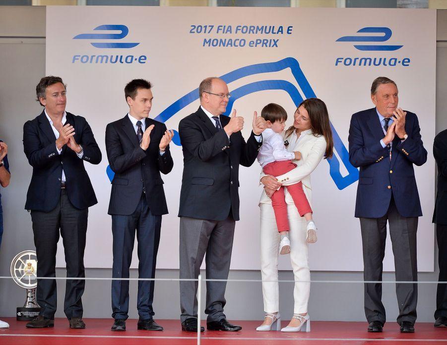 Raphaël Et Charlotte Casiraghi À La Remise Des Trophées De L'ePrix De Monaco 2