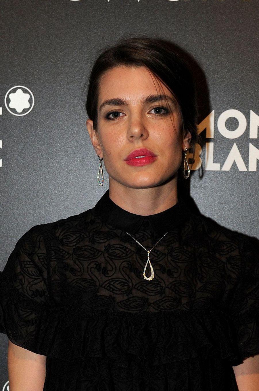 Charlotte Casiraghi à Genève, le 16 janvier 2017