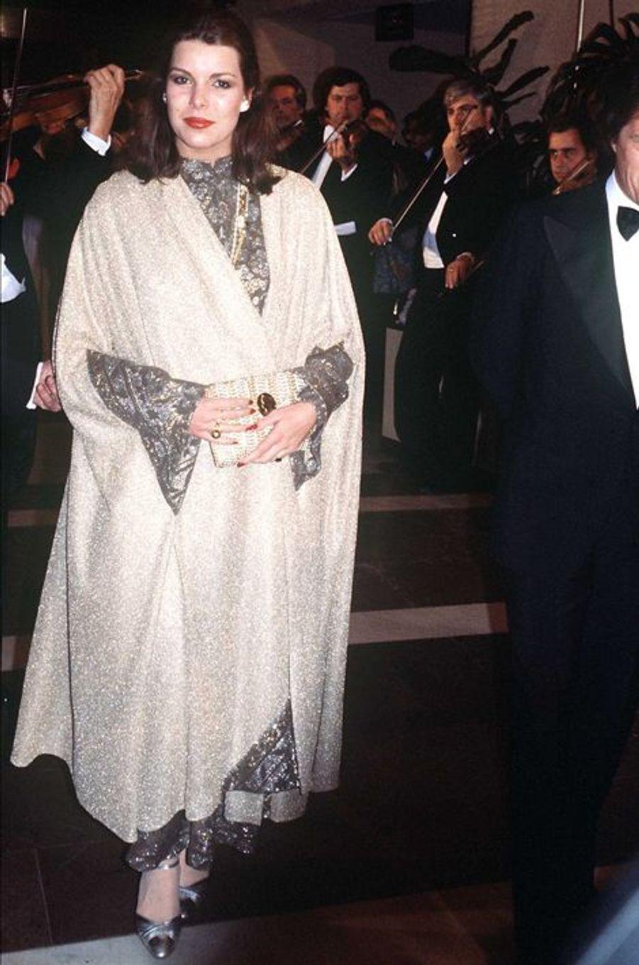 La princesse Caroline de Monaco au bal de la Rose 1978