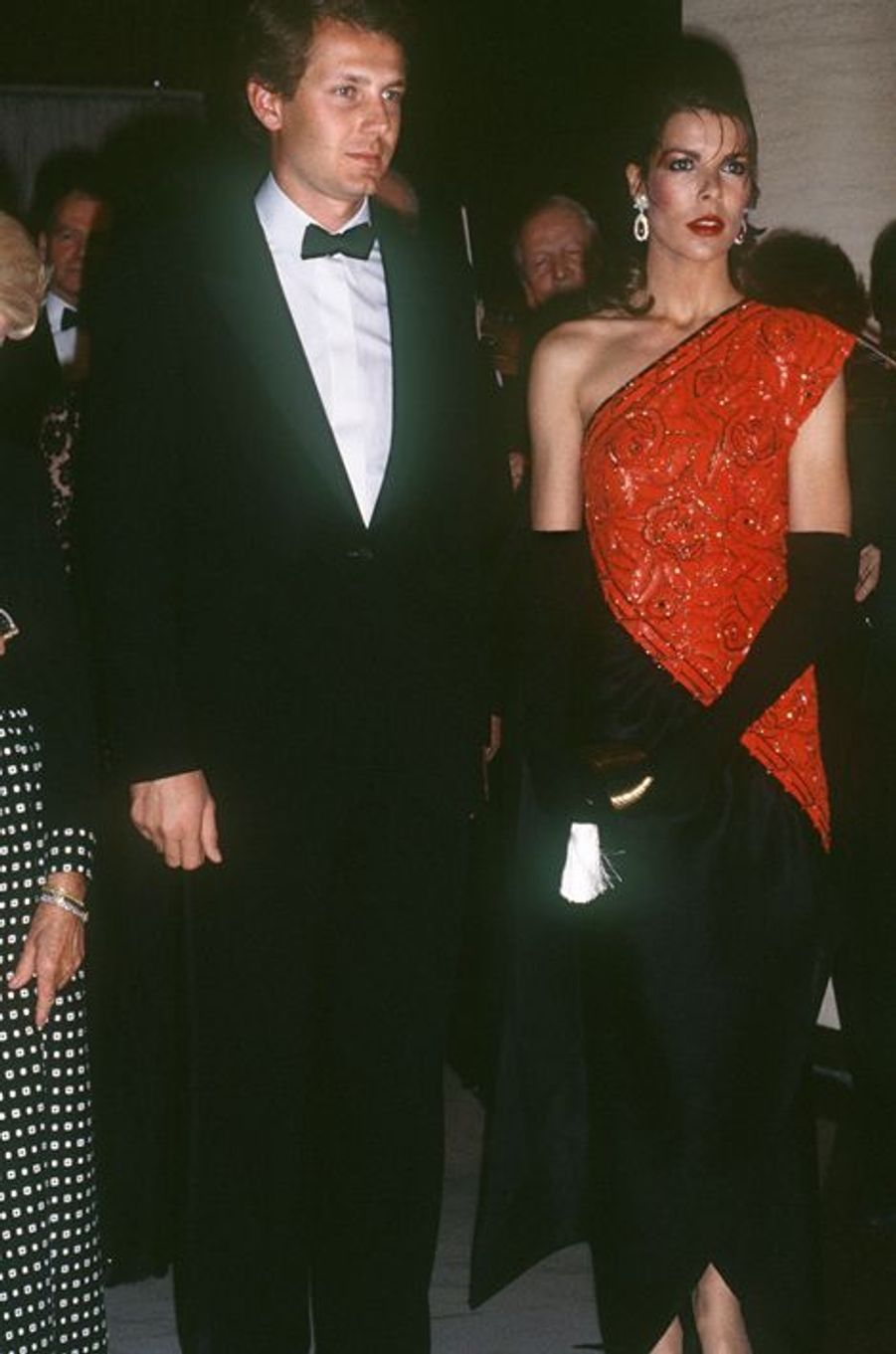 La princesse Caroline de Monaco au bal de la Rose 1985, avec Stefano Casiraghi