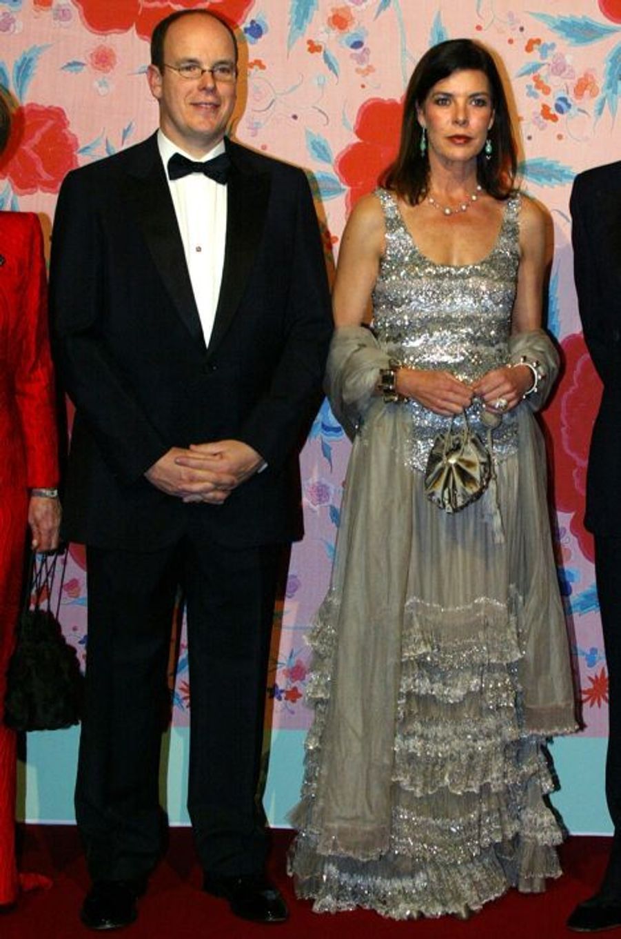 La princesse Caroline de Monaco au bal de la Rose 2004, avec le prince Albert