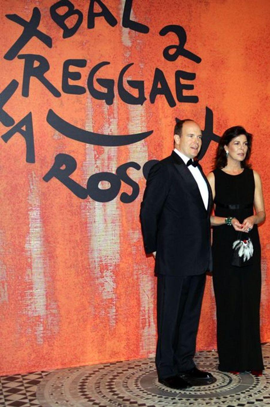 La princesse Caroline de Monaco au bal de la Rose 2006, avec le prince Albert II