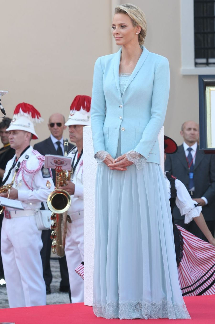 Charlène Wittstock, à Monaco le 1er juillet 2011