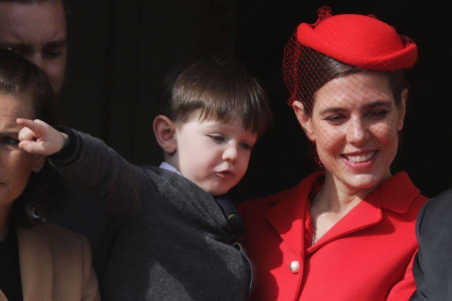 Charlotte Casiraghi et son fils Raphaël à Monaco le 19 novembre 2016
