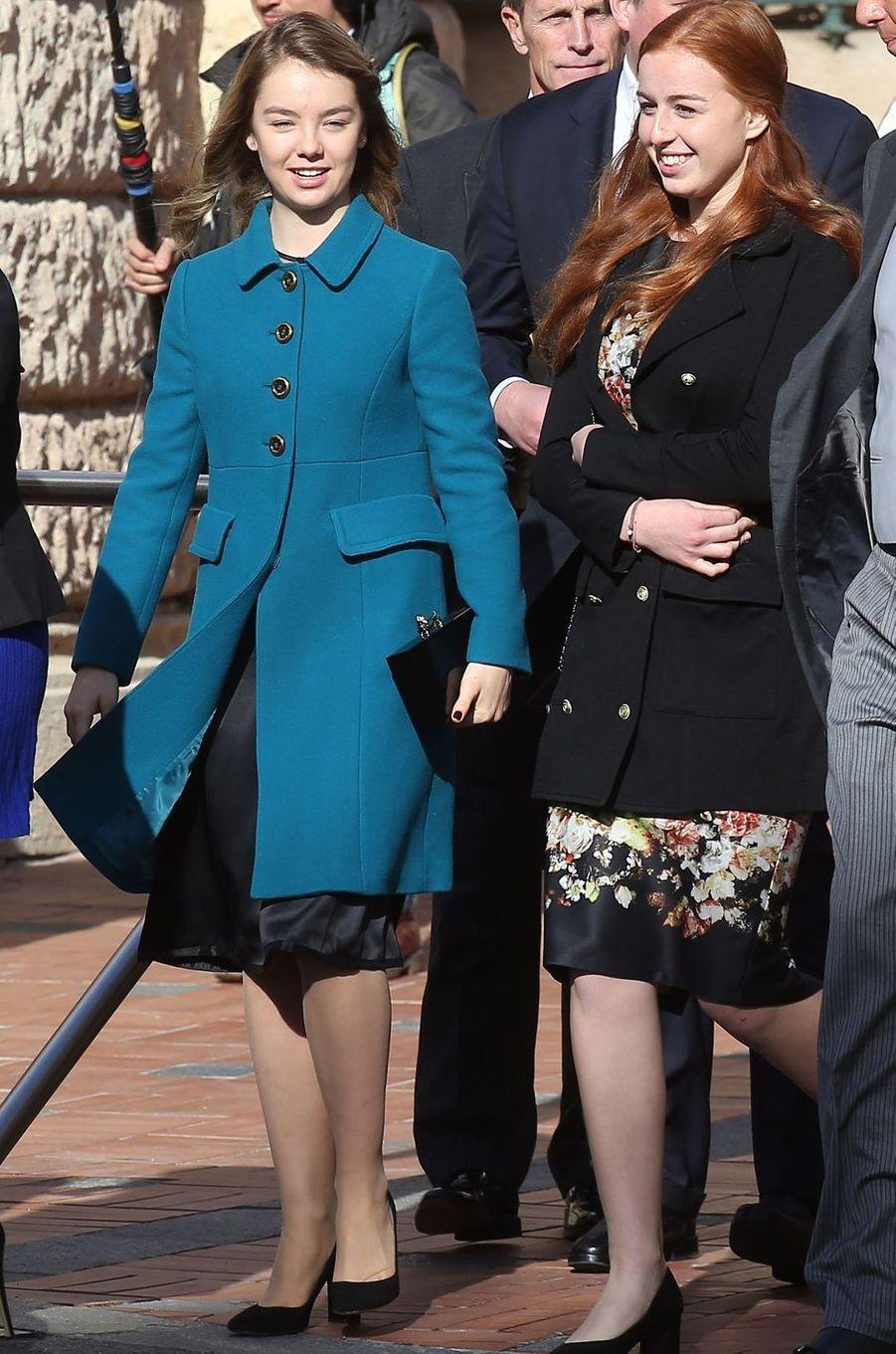 La princesse Alexandra de Hanovre (à gauche) à Monaco le 19 novembre 2016