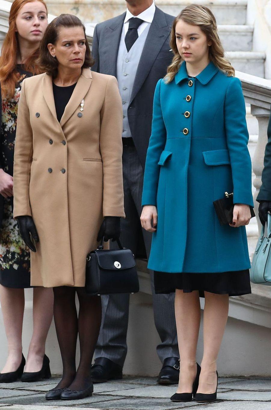 Les princesses Stéphanie de Monaco et Alexandra de Hanovre à Monaco le 19 novembre 2016