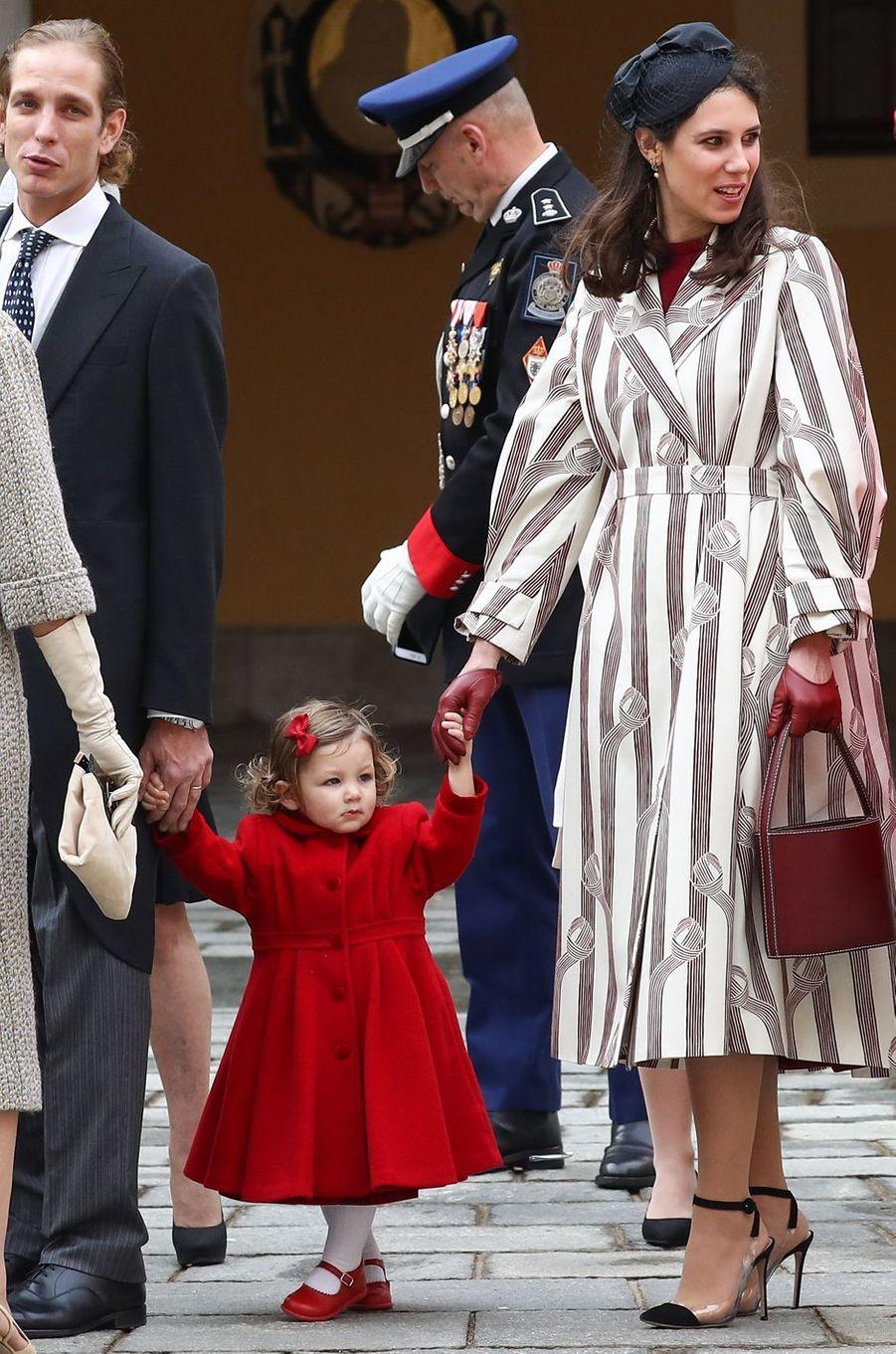 Tatiana Santo Domingo-Casiraghi et sa fille India à Monaco le 19 novembre 2016