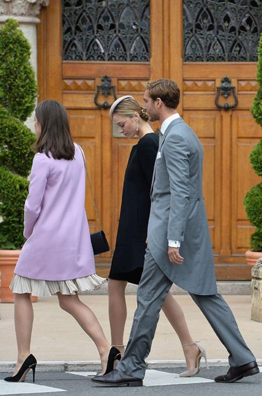 Charlotte, Beatrice et Pierre Casiraghi à Monaco, le 19 novembre 2015