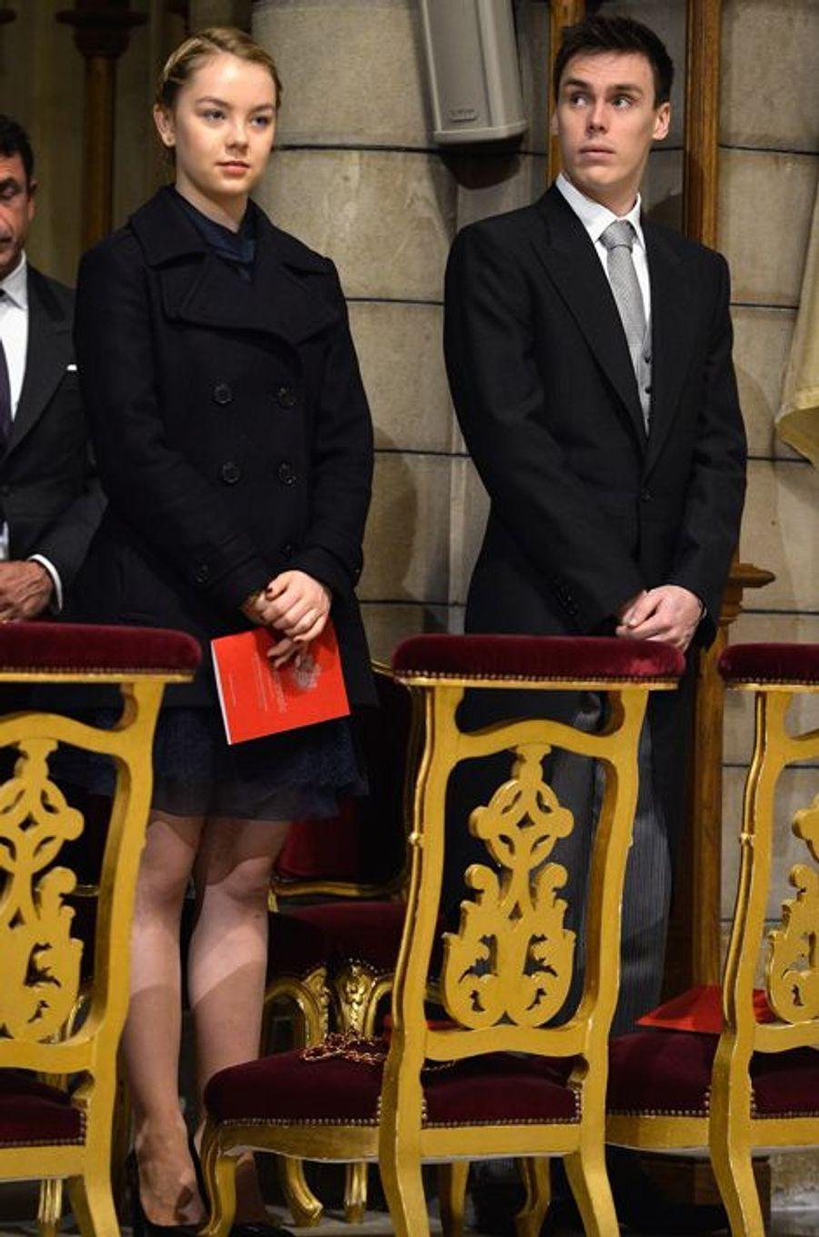 La princesse Alexandra de Hanovre et Louis Ducruet à Monaco, le 19 novembre 2015