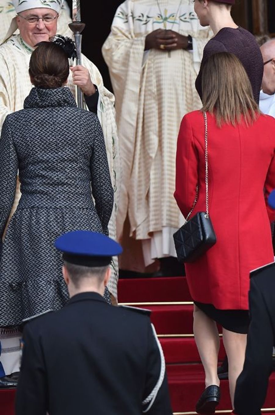 Les princesses Caroline de Hanovre et Stéphanie de Monaco à Monaco, le 19 novembre 2015