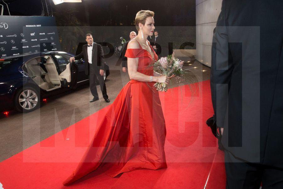 Charlène de Monaco et le prince Albert à la cérémonie des Laureus Sports Awards