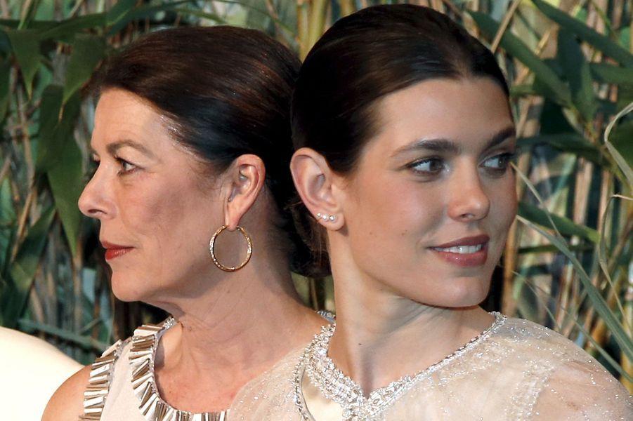 La princesse Caroline de Hanovre et Charlotte Casiraghi à Monaco, le 19 mars 2016