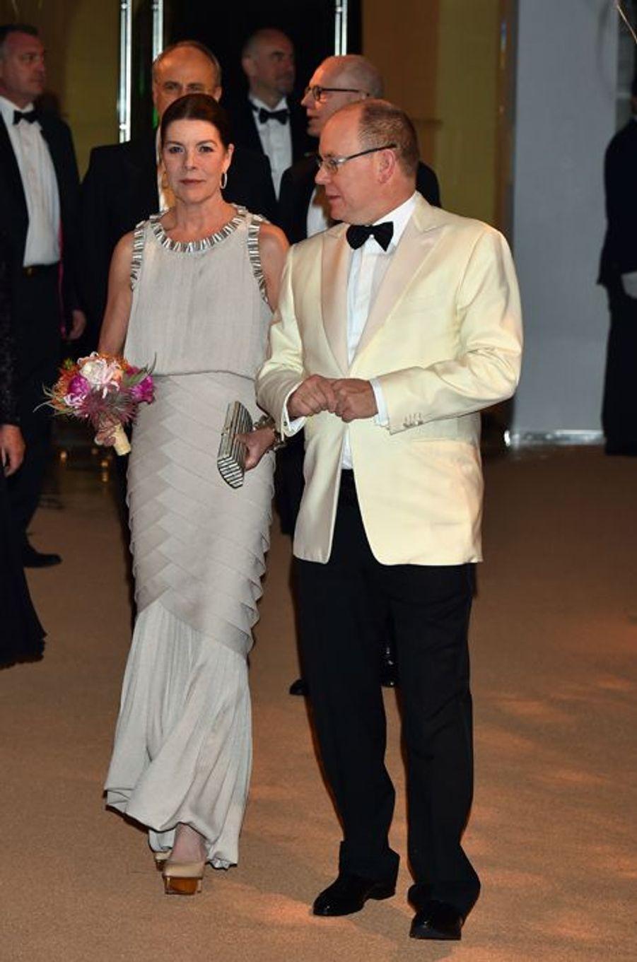 La princesse Caroline de Hanovre et le prince Albert II de Monaco à Monaco, le 19 mars 2016