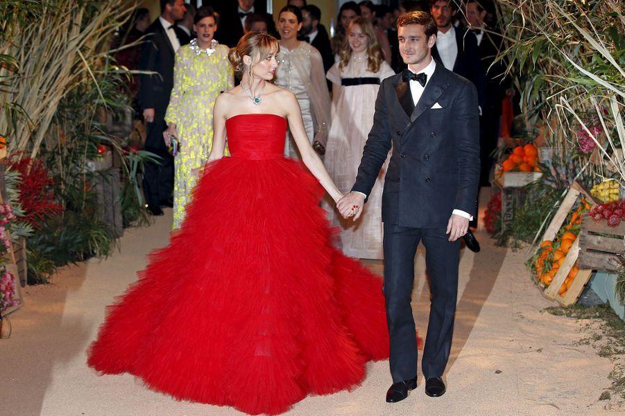 Pierre Casiraghi et sa femme Beatrice Borromeo à Monaco, le 19 mars 2016