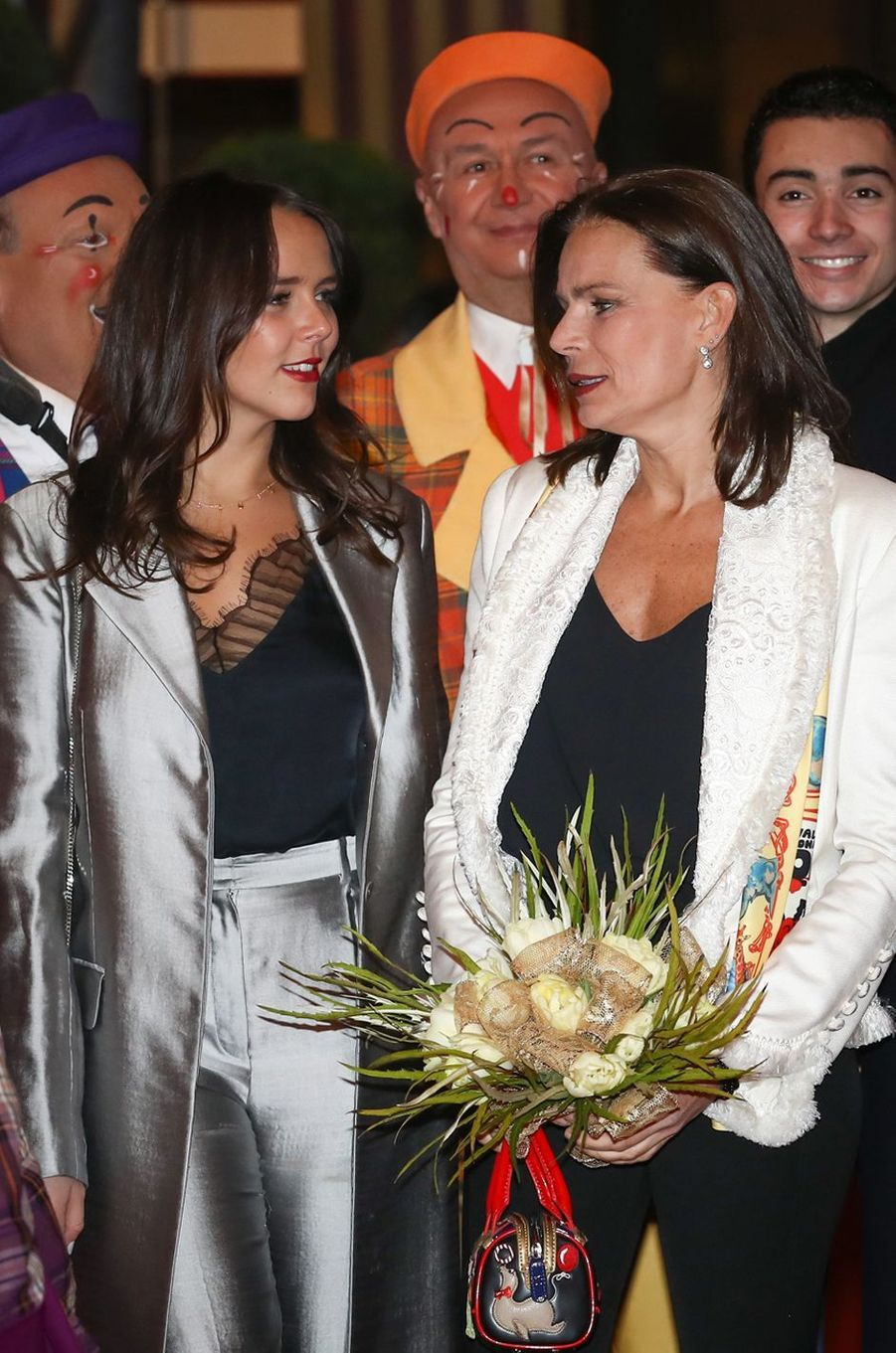 Pauline Ducruet et sa mère la princesse Stéphanie de Monaco à Monaco, le 18 janvier 2018
