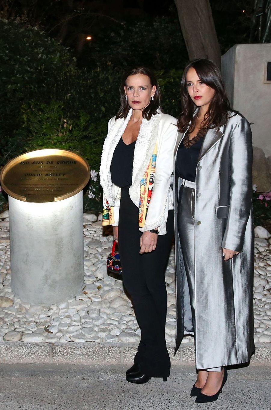 La princesse Stéphanie de Monaco et sa fille Pauline Ducruet à Monaco, le 18 janvier 2018