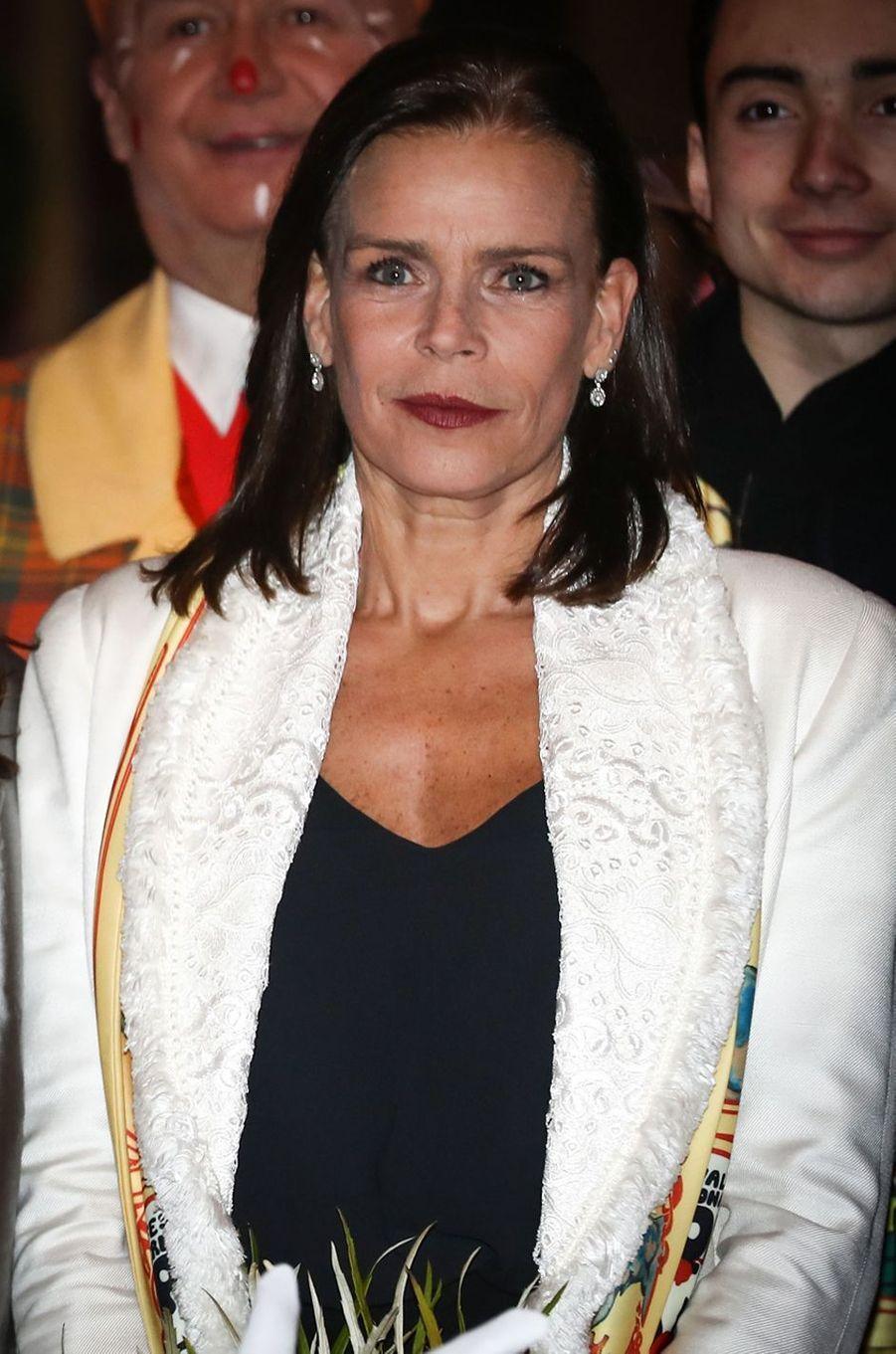 La princesse Stéphanie de Monaco à Monaco, le 18 janvier 2018