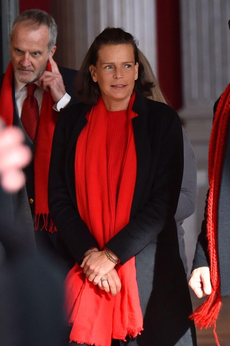"""La Princesse Stéphanie De Monaco Et Sa Fille Camille Gottlieb Au Déploiement Des """"Courtepointes"""" En Mémoire Des Victimes Du SIDA 2"""