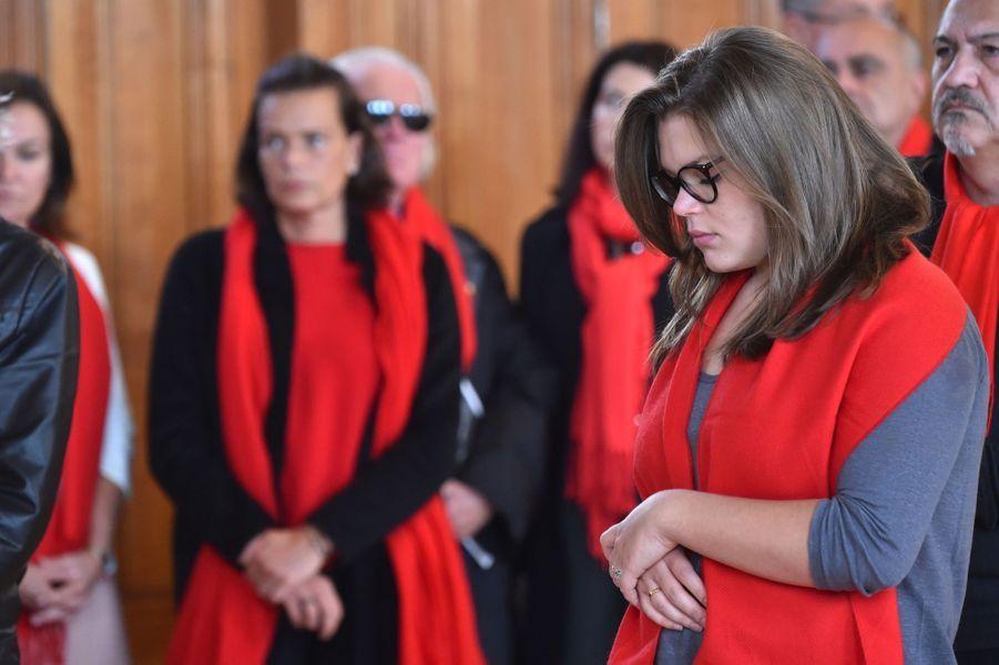 """La Princesse Stéphanie De Monaco Et Sa Fille Camille Gottlieb Au Déploiement Des """"Courtepointes"""" En Mémoire Des Victimes Du SIDA 4"""
